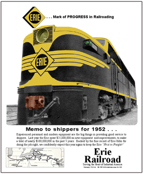 Tin Sign ERIE 1952