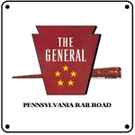 PRR General Logo 6x6 Tin Sign