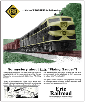 Tin Sign ERIE Flying Saucer