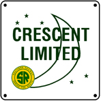 Southern Crescent Logo 6x6 Tin Sign