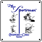 C&O Sportsman Logo 6x6 Tin Sign