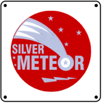 Seaboard Meteor Logo 6x6 Tin Sign
