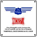 NC&StL Memphis Logo 6x6 Tin Sign