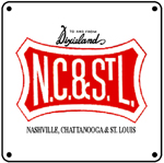 NC&StL Logo 6x6 Tin Sign