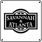 Savannah Atlanta Logo 6x6 Tin Sign