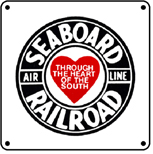 Seaboard Logo 6x6 Tin Sign