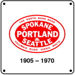 SP&S Logo 6x6 Tin Sign