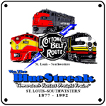 Cotton Belt Diesels 6x6 Tin Sign