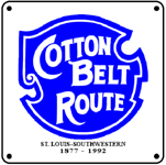Cotton Belt Logo 6x6 Tin Sign
