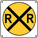 RR Crossing 6x6 Tin Sign