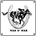 CofG Man O War 6x6 Tin Sign