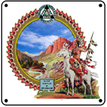 Colo Midland 7 Castles 6x6 Tin Sign