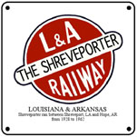 L&A Shreveporter Logo 6x6 Tin Sign