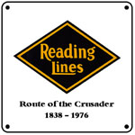 Reading Logo 6x6 Tin Sign