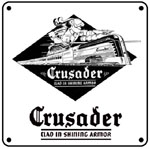 Reading Crusader 6x6 Tin Sign