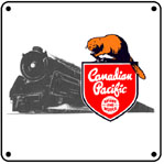 CPR Steam Logo 6x6 Tin Sign