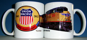 Coffee Mug UP 150th w/Diesel SD70Ace