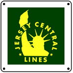 Jersey Central Square Logo 6x6 Tin Sign