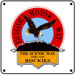 D&RGW Motor Way Logo 6x6 Tin Sign