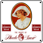 Lackawanna Phoebe Snow 6x6 Tin Sign