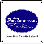 Pan American Blue Logo 6x6 Tin Sign