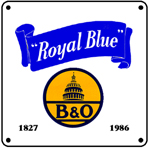 B&O Royal Blue Logo 6x6 Tin Sign