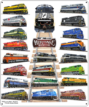 Tin Sign NS Heritage Diesels