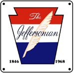 PRR Jeffersonian Logo 6x6 Tin Sign