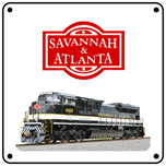 Savannah & Atlanta Heritage 6x6 Tin Sign