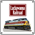 Lackawanna Heritage 6x6 Tin Sign