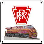 PRR NS Heritage 6x6 Tin Sign