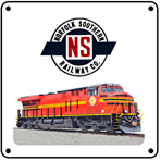 Norfolk Southern Old NS Heritage 6x6 Tin Sign