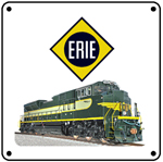 ERIE NS Heritage 6x6 Tin Sign
