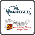 SOO Winnipeger Logo 6x6 Tin Sign