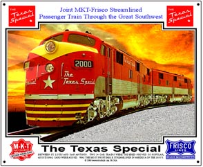 Tin Sign Texas Special diesels