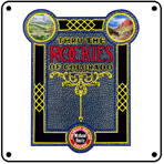 Co Midland Rockies 6x6 Tin Sign