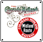 Colo Midland Route 6x6 Tin Sign