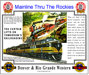 Tin Sign Rio Grande FT Diesel Ad