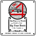 Big Four 1904 6x6 Tin Sign