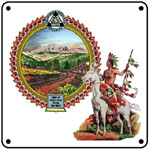 Colo Midland Pikes Peak 6x6 Tin Sign