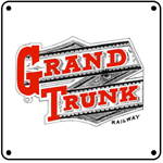 Grand Trunk Old Logo 6x6 Tin Sign
