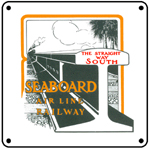 Seaboard Rail 6x6 Tin Sign