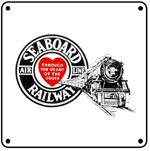 Seaboard Steam Logo 6x6 Tin Sign