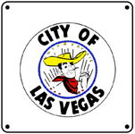 UP City of LV Logo 6x6 Tin Sign