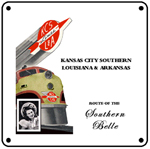 KCS Sou Belle 6x6 Tin Sign