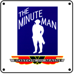 B&M Minue Man 6x6 Tin Sign