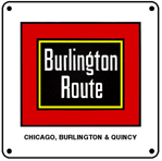 Burlington Route Logo 6x6 Tin Sign