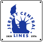 Jersey Central Blue Logo 6x6 Tin Sign