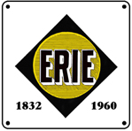 ERIE Black Logo 6x6 Tin Sign