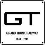 Grand Trunk GT Logo 6x6 Tin Sign